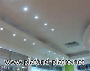 conception plafond couloirs en platre lumineux plafond