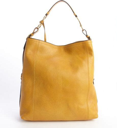 gucci harness gucci harness yellow leather large hobo bag in yellow lyst