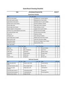 Cleaning Template by Hotel Room Cleaning Checklist Templates External House