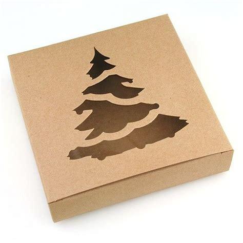 tree box brown kraft box with tree window
