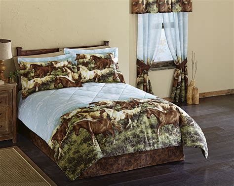 horse bedroom sets western horse bedding set comforter bedskirt pillow