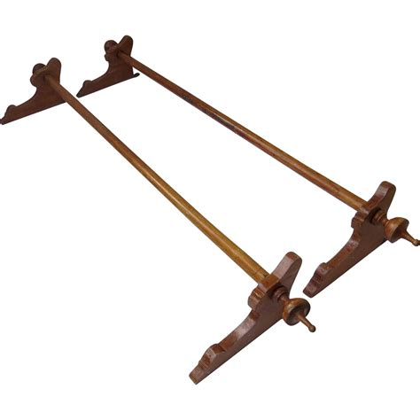 wood curtain rod bracket set of two walnut wood curtain rods brackets and finials