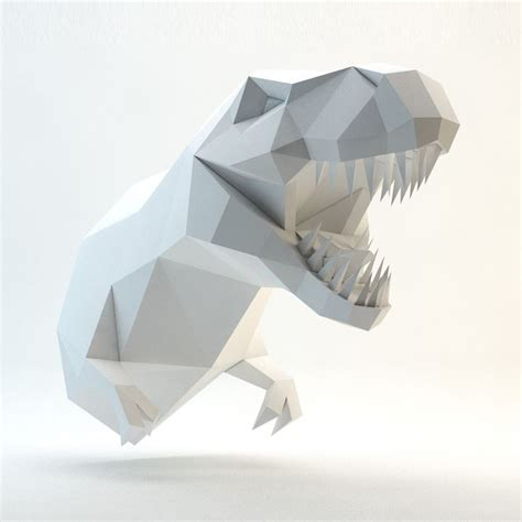 3d paper template 3d papercraft model you can make your own trex for