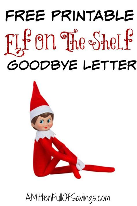 elf   shelf goodbye letter elf  shelf letter elf
