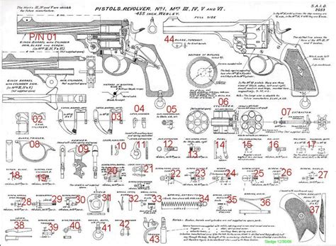 revolver parts diagram webley revolver parts diagram reference only not for