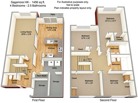 sagamore hill floor plan apartments in landover villages at morgan metro