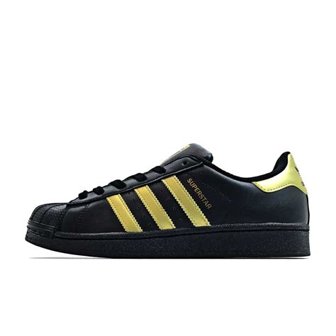 Adidas Originals Black adidas originals superstar junior black gold add109bg