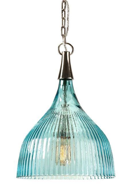luster pendant light sidni teal luster ribbed pendant light coastal lighting