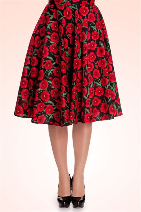 50s swing skirt 50s poppy swing skirt