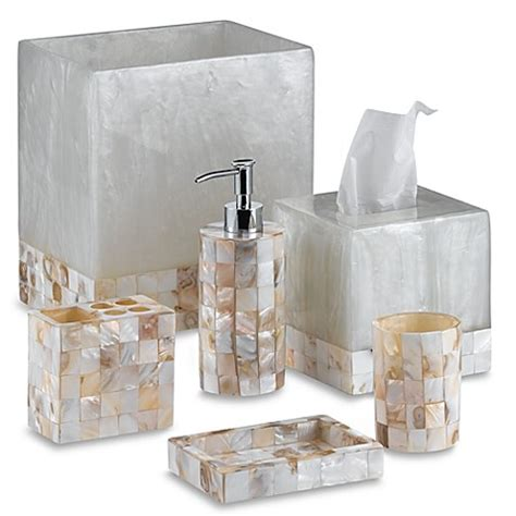 capiz shell bathroom accessories capiz boutique tissue box cover bed bath beyond