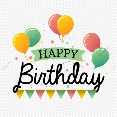 happy birthday design vector typography  balloons