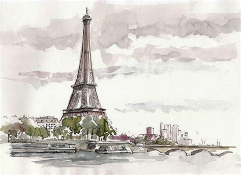 Comment Dessiner Paris Dessin La Tour Eiffel A Imprimer