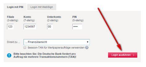 deutsche bank log deutsche bank login login seite