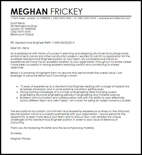 cover letter engineer with experience great cover letter for planning engineer 11 in cover
