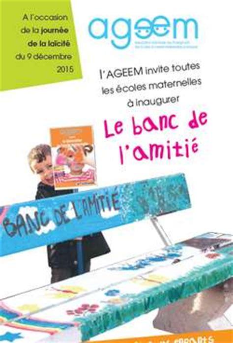 Banc école Maternelle by Le Banc De L Amiti 233 Pour La Semaine De La La 239 Cit 233 Par