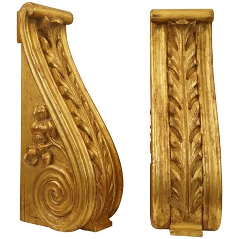 Large Wood Corbels For Sale Large Pair Of 19th Century Carved And Water Gilded