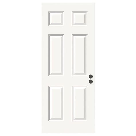 home depot 6 panel interior door 36 in x 80 in 6 panel primed premium steel front door slab thdjw166100317 the home depot