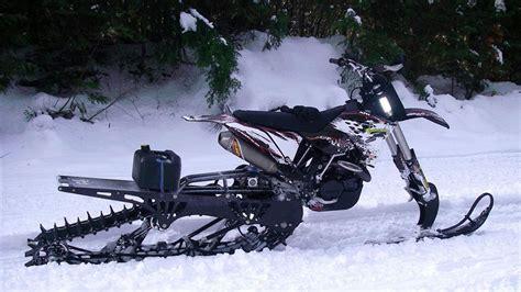 Suzuki Snow Bike Mountain Dirt Bike Snow Kits Dudeiwantthat
