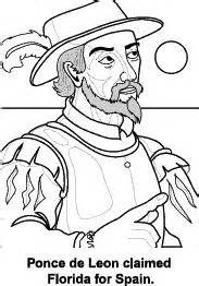 coloring pages spanish explorers florida state symbols coloring pages florida symbols