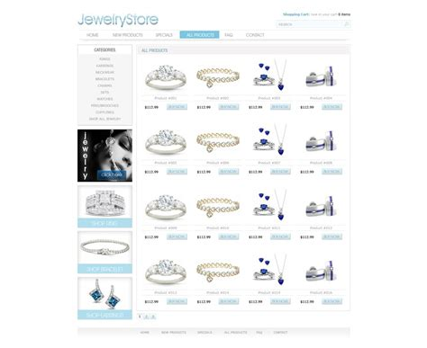 ecommerce site template free ecommerce website template free store