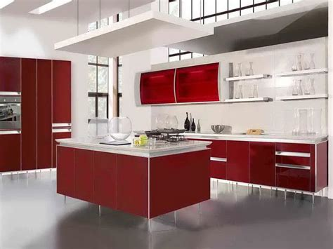 kitchen unique and deluxe red kitchen decorating ideas