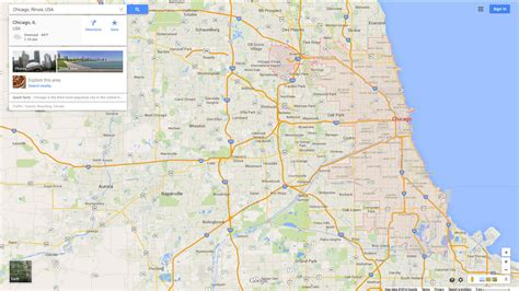 chicago map state chicago state map images