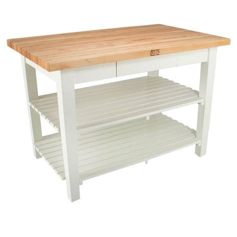Kitchen Work Table With Shelves Kitchen Islands Classic Country Work Table With 2 Shelves 36 By Boos