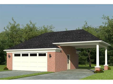 Two Car Garage With Carport by Garage Plans With Carports Detached 2 Car Garage Plan