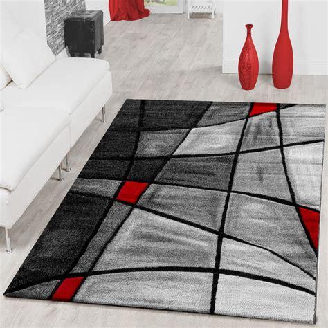teppich rot schwarz grau teppiche wohnzimmer teppich porto mit konturenschnitt in