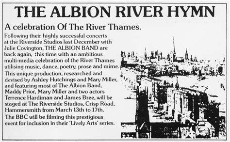 thames river poem the albion river hymn