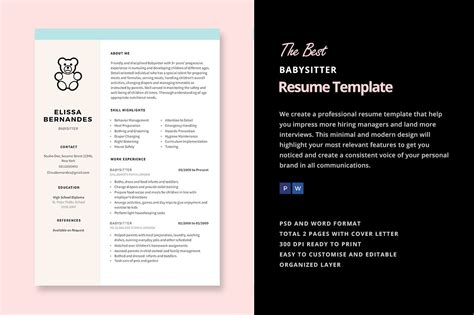 Babysitting Resume by Resume Template Resume Templates Creative