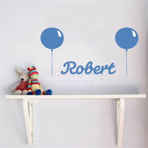 boys name wall stickers personalised boy s name and balloon wall sticker balloon