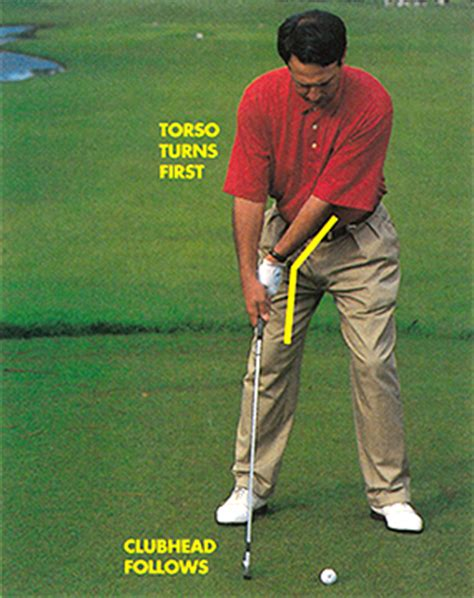 swing the clubhead golf lag behind to get ahead by tom patri with lorin anderson