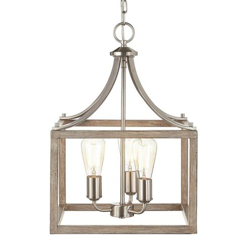 Home Decorators Collection Boswell Quarter Collection 3 Light Brushed Nickel Pendant 7948HDC
