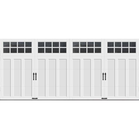 Clopay Coachman Collection 16 Ft X 7 Ft 18 4 R Value 16 X 7 Garage Doors