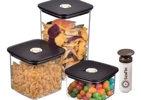 Shelf Of Vacuum Sealed Foods 29 99 reg 50 3 pack vacuum seal food storage containers
