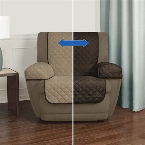 recliner chair arm covers furniture protector lazy boy double fase slipcover  ebay