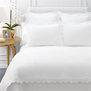 white duvet aerin applique scallop white duvet cover from beddingstyle