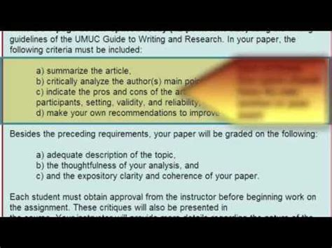 write  academic critique assignment critique  academic journal article youtube
