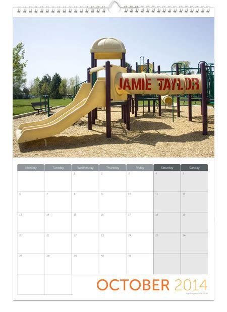 Calendar Personalised Personalised Calendar Gettingpersonal Co Uk