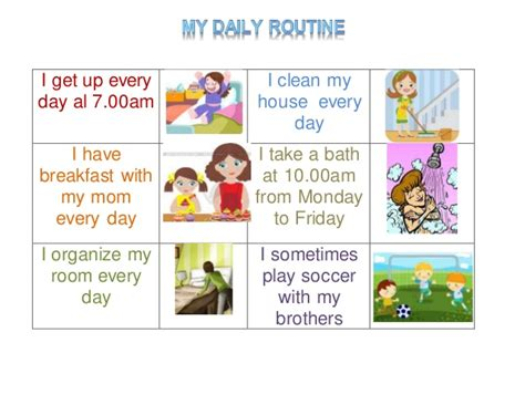 My Routine Day Essay by Evidence 2 My Daily Routine
