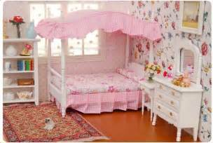 doll bedroom furniture 1 12 dollhouse miniature bedroom furniture canopy bed