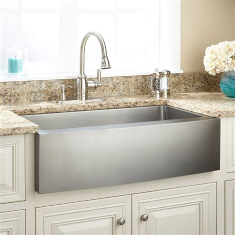 36 farmhouse sink cabinet 36 quot optimum stainless steel farmhouse sink curved apron