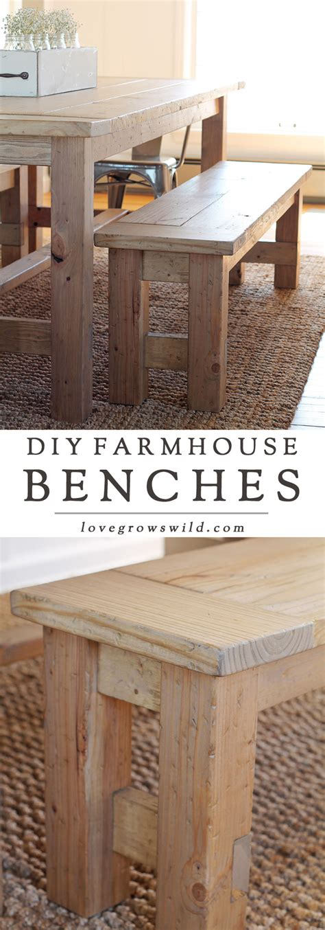 how to make a farmhouse bench diy farmhouse bench love grows wild
