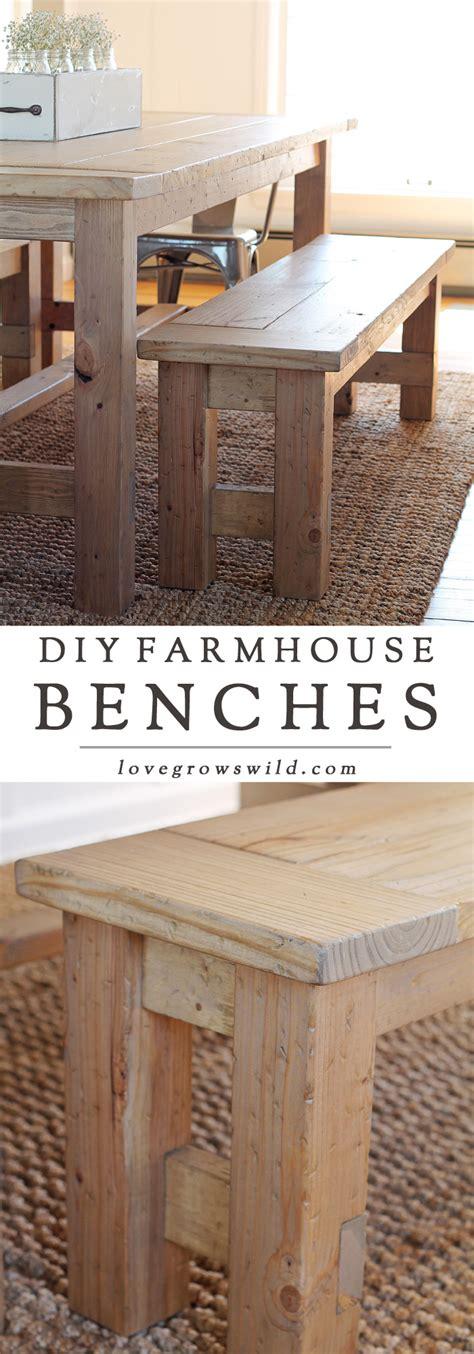 build a farmhouse diy farmhouse bench love grows wild