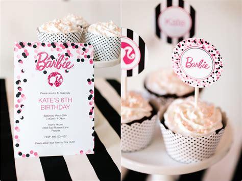 free printable barbie birthday decorations barbie birthday party with free printable barbie designs