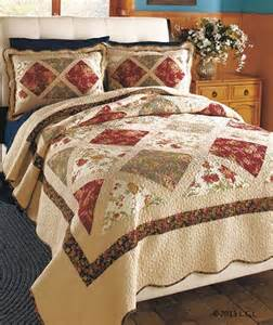 patchwork quilts or sham burgundy timeless