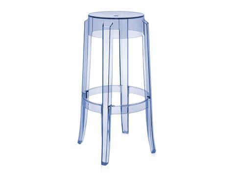 buy the kartell charles ghost bar stool light blue at nest