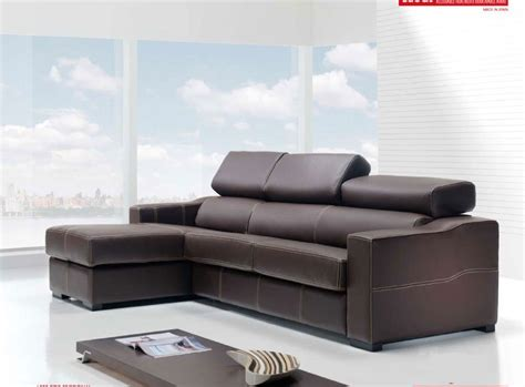 Modern Spain Brown Leather Sleeper Sectional Sofa Bed Brown Leather Sectional Sleeper Sofa