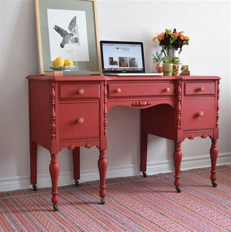 Chalk Painted Desk by Poppyseed Creative Living Desk Vanity Painted With